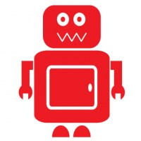 Robot Wall Decal Image 1