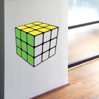 Retro Cube Wall Decal Image 0