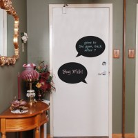 Reusable Chalkboard Speech Bubble Wall Decal Image 1