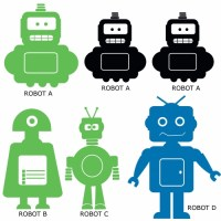 Robot Kit Wall Decal Image 1