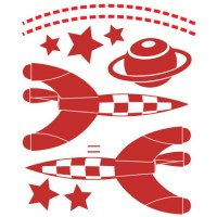 Space Rockets Wall Decal Image 2