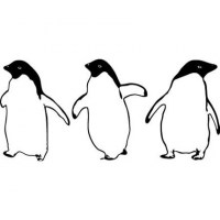 Three Little Penguins Wall Decal Image 1
