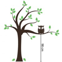Tree with Owl Wall Decal Image 1