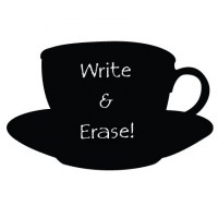 Reusable Chalkboard Teacup Wall Decal Image 1
