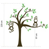 Tree with Monkeys Wall Decal Image 1