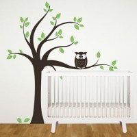 Tree with Owl Wall Decal Image 0