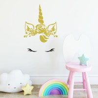 Baby Unicorn Wall Decal Image 0