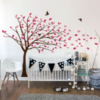 Blowing Tree Wall Decal Image 1