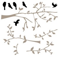 Branch with Birds Wall Decal Image 2