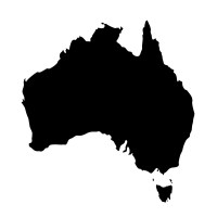 Reusable Chalkboard Map of Australia Image 1
