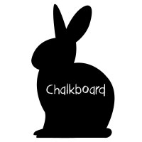 Reusable Chalkboard Bunny Wall Decal Image 1