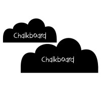 Reusable Chalkboard Clouds Wall Decal Image 1