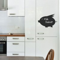 Reusable Chalkboard Pig Wall Decal Image 0