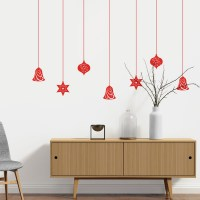 Spectacular Christmas Baubles Wall Decal