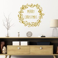Christmas Wreath Wall Decal Image 0
