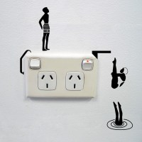 Divers wall sticker for power sockets
