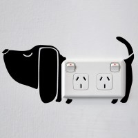 Dog Wall Sticker for Sockets Image 0