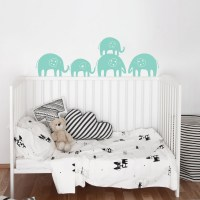 Elephants Trail Wall Decal Image 1