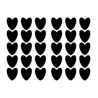 Hearts Wall Decal Image 3