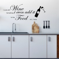 I Cook with Wine Wall Decal Image 0