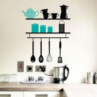 Kitchen Shelves Wall Decal Image 0