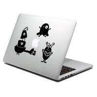 Monsters laptop decal