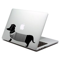 Sausage dog laptop decal