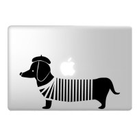 Sausage Dog Laptop Decal Image 1