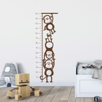 Monkey Height Chart Wall Decal Image 0