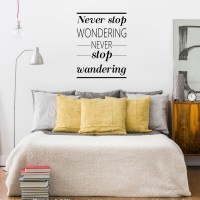 Never Stop Wondering Wall Decal Image 0