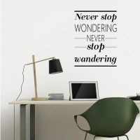 Never Stop Wondering Wall Decal Image 1