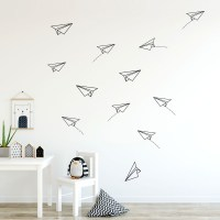 Paper Planes Wall Decal - Black