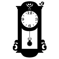Pendulum Clock Wall Decal Image 1