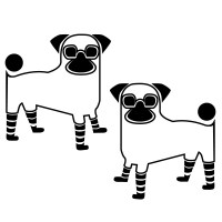 Pugs Wall Decal Image 1