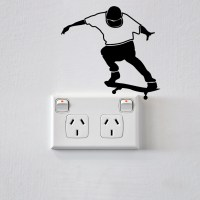 Skateboarder Wall Sticker for Sockets Image 0