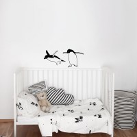 Two Funny Penguins Wall Decal Image 0