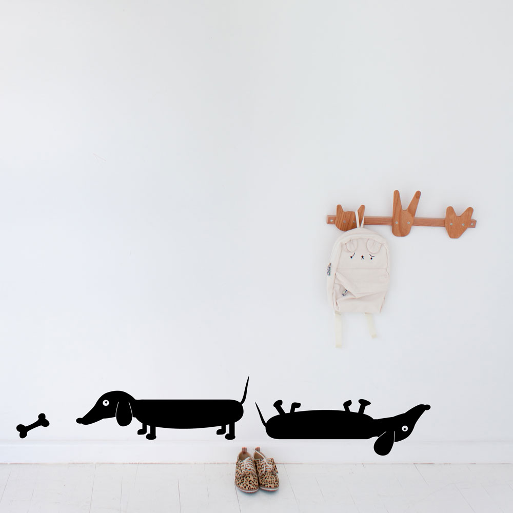 Sausage Dog Wall Decal
