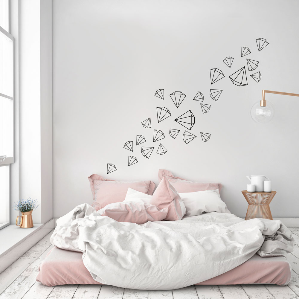Scattered Diamonds Wall Decal