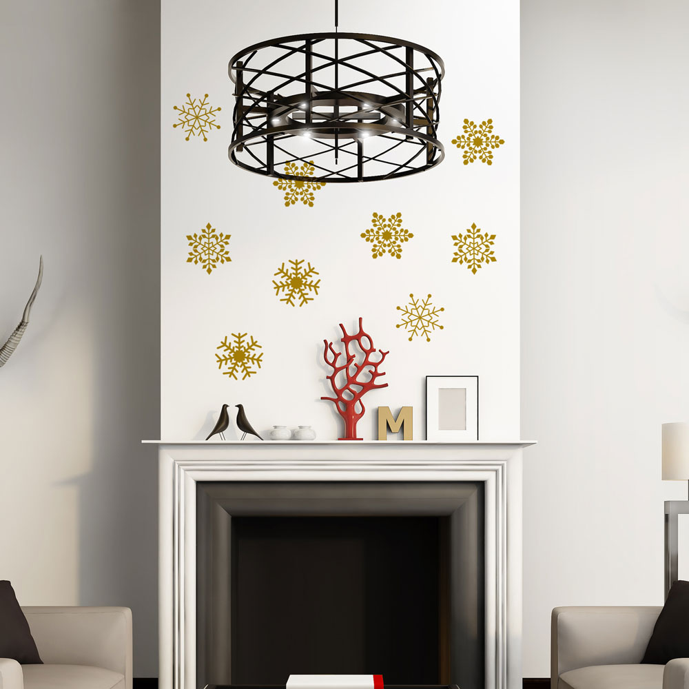 Superbe ... Snowflakes Wall Decal Image 1 ...