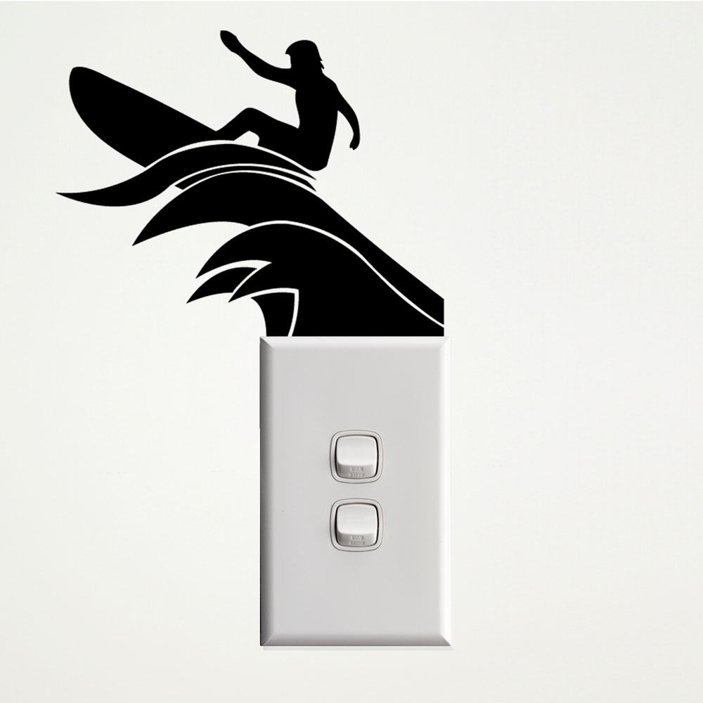 Surfer Wall Sticker for Sockets