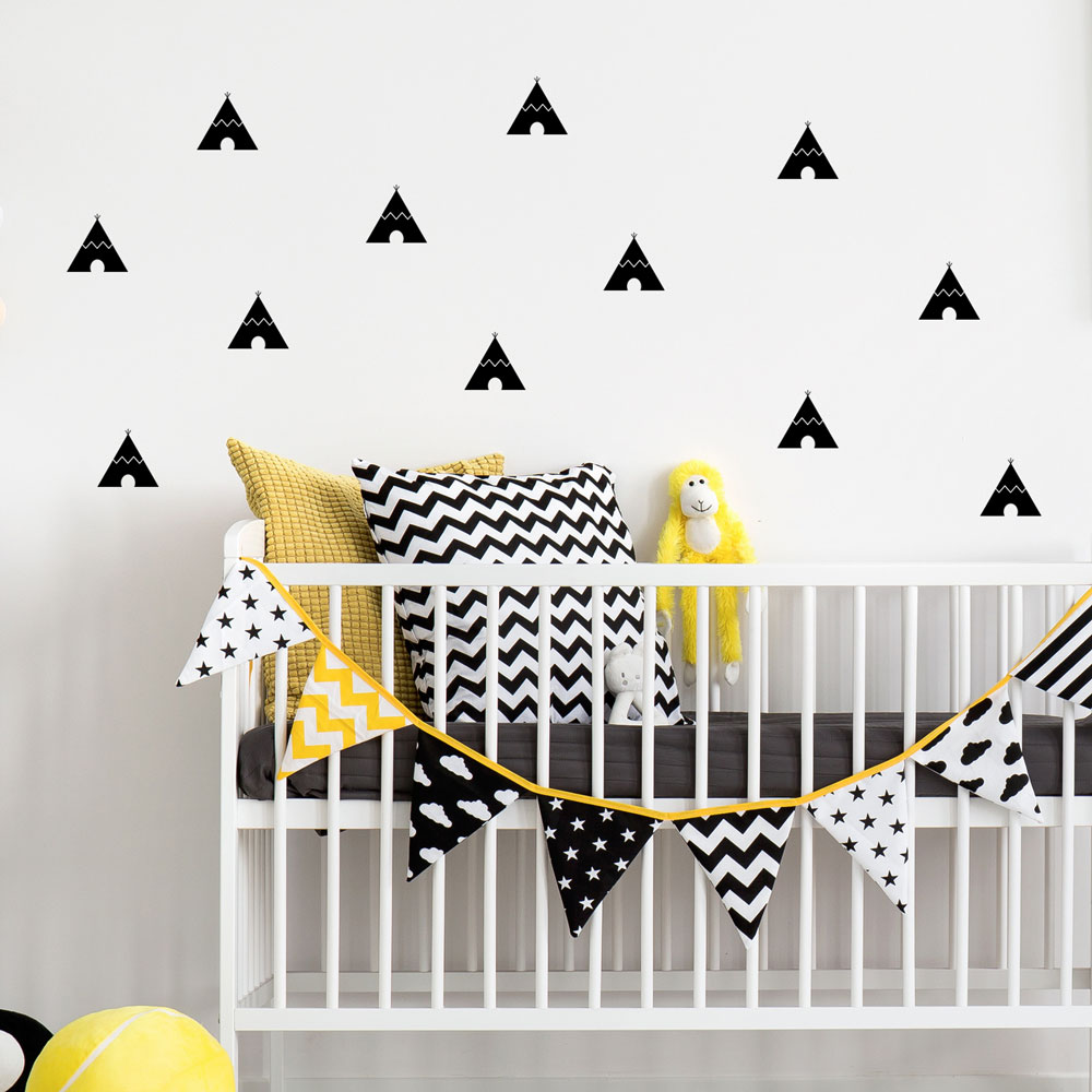 Teepees Pattern Wall Decal Geometrical Wall Patterns