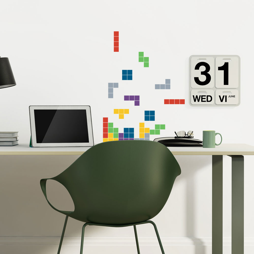 Falling Blocks Wall Decal