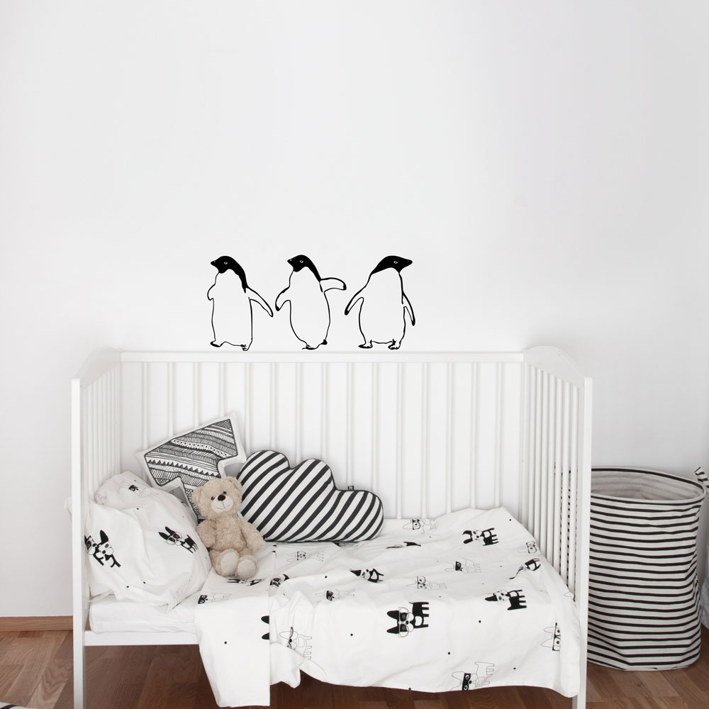 Three Little Penguins Wall Decal