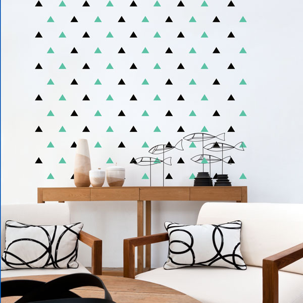 Triangles wall decal image 1