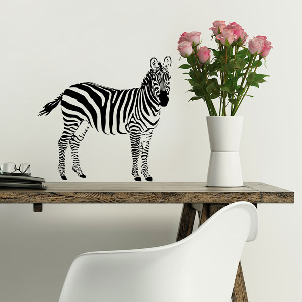 Zebra Wall Decal Small