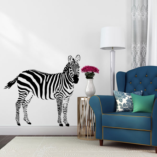 Zebra Wall Decal Large