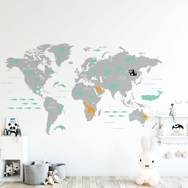 World-Map-Wall-Decal