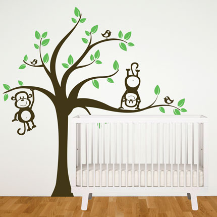 Tree with Monkeys Wall Decal