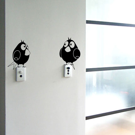 Two Fatty Birds Wall Decal