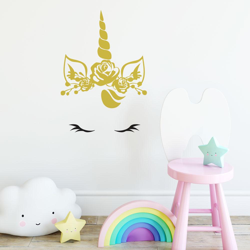 Kids: Baby Unicorn Wall Decal